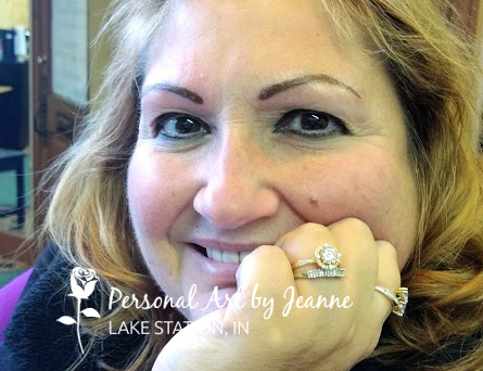 permanent eyebrows and eyeliner by Jeanne at Personal Art, Inc.