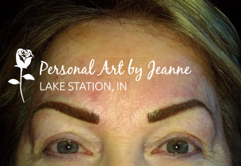 Permanent eyebrows by Jeanne at Personal Art, Inc