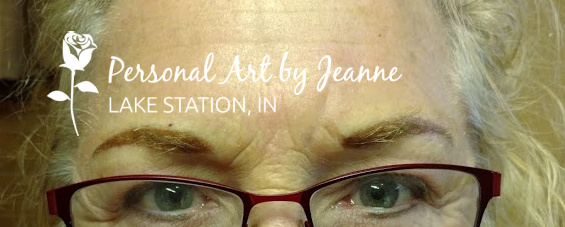Permanent eyebrows by Jeanne at Personal Art , Inc.